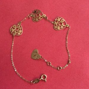 Jewelry - 18k gold bracelet with heart ❤️